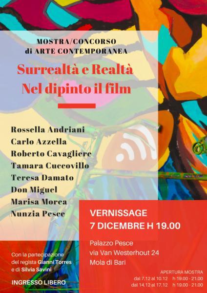 Cinema e arte si incontrano a Palazzo Pesce [Vernissage Mostra pittorica Surrealtà e Realtà]