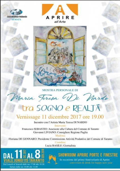 """Aprire all'Arte """"Tra Sogno e Realtà"""" - Mostra Personale di Di Nardo Maria Teresa"""