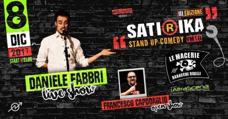 Satirika 3.0 con Daniele Fabbri e Francesco Capodaglio (Satiriasi, Nemico Pubblico Rai 3, Comedy Central)
