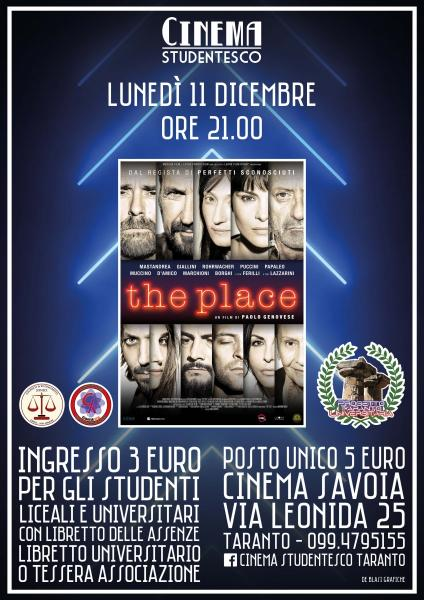 """The Place"" in rassegna al cinema Savoia"