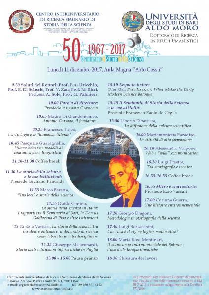 1967-2017. Seminario di Storia della Scienza