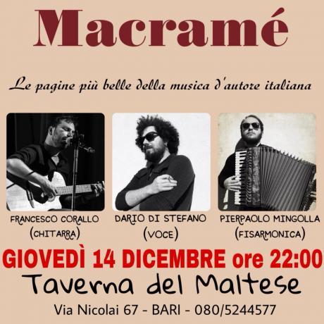 Macramé / Viaggio nella canzone d'autore / Taverna del Maltese - BARI