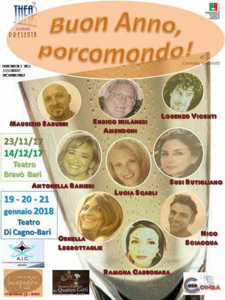 Buon anno porcomondo di Corrado Vallerotti...compagnia thea3