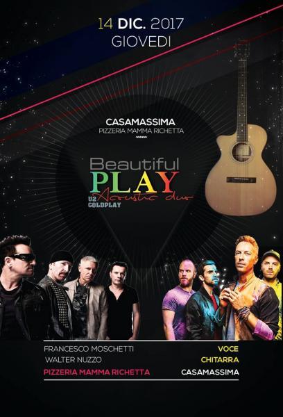 Beautiful Play U2 & Coldplay Acoustic Duo live Pizzeria Mamma Richetta