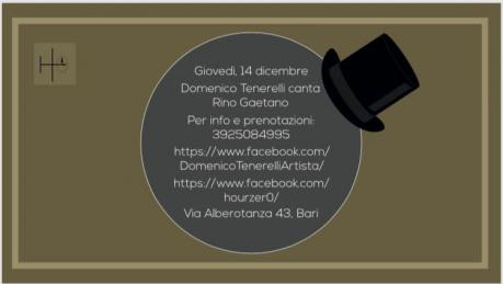 Domenico Tenerelli canta Rino Gaetano