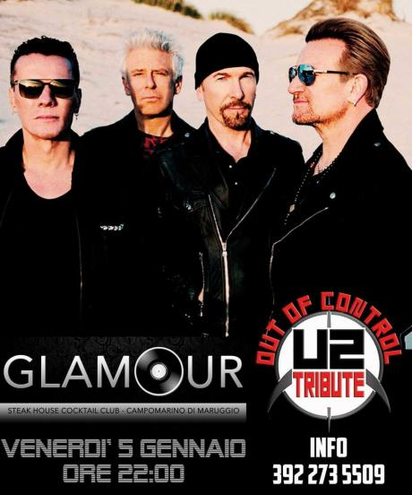 Out of Control U2 Tribute band live Glamour Steakhouse Cocktail Club