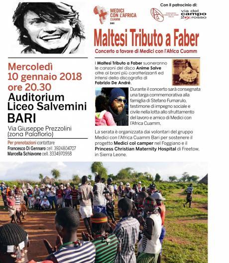 Tributo a FABRIZIO DE ANDRE' con I MALTESI [Evento Speciale]