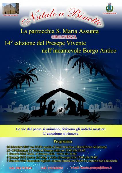 XIV Edizione Presepe Vivente Binetto 2017/18