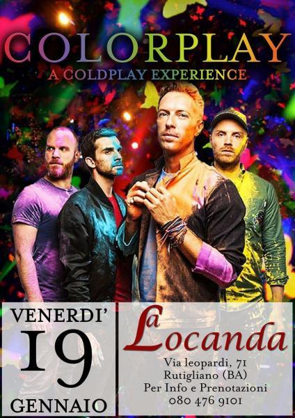 Colorplay a Coldplay experience live La Locanda Rutigliano