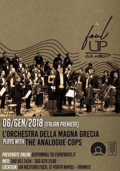 Orchestra della Magna Grecia plays with Analogue Cops