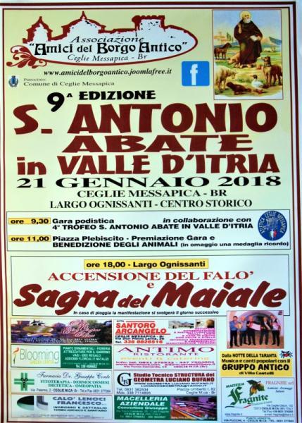 """Pizzica con il """"Gruppo Antico di Villa Castelli"""" e sagra del maiale per la festa di Sant'Antonio Abate"""