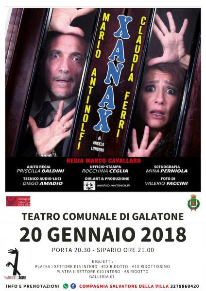 XANAX commedia di Angelo Longoni