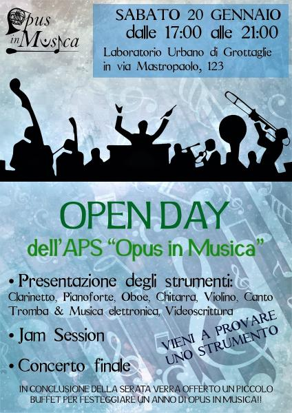 """OPEN DAY dell'APS """"Opus in Musica"""""""