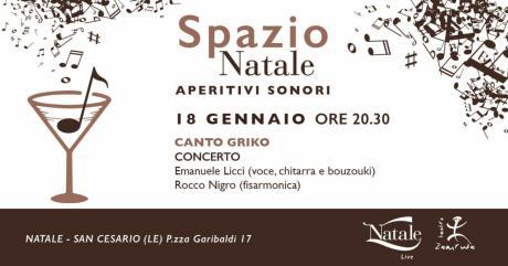 APERITIVI SONORI - Emanuele Licci (voce) Rocco Nigro (fisarmonica)