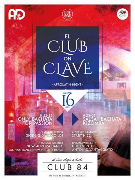 EL CLUB ON CLAVE AL CLUB 84 DI MAGLIE