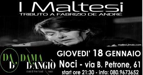 Tributo a Fabrizio De André con I MALTESI