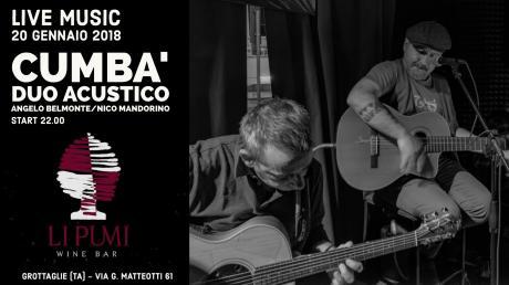 Cumbà duo acustico live a Li Pumi Wine Bar