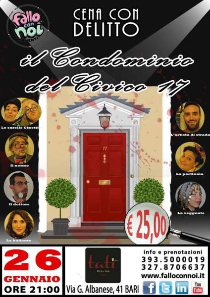 """Cena con Delitto """"Il Condominio del Civico 17"""""""