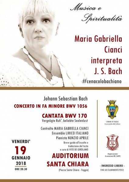 Maria Gabriella Cianci  interpreta Bach