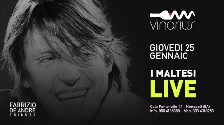 Giovedì 25 Gennaio sul palco del Vinarius i Maltesi, De Andrè tribute band
