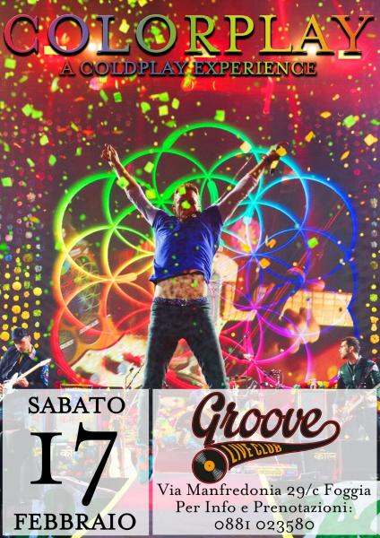 Colorplay a Coldplay Experience Groove live Club