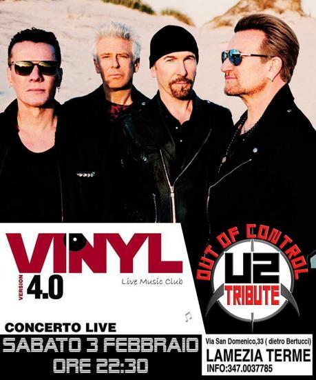 Out of Control U2 Tribute band live Vinyl Music Club Lamezia Terme