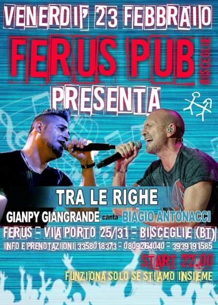 """Biagio Antonacci Tribute live con i """"Tra le Righe"""""""
