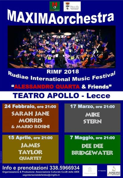 MAXIMAorchestra Sarah Jane Morris & Mario Rosini Rimf 2018 Rudiae International Music Festival Alessandro Quarta & Friends