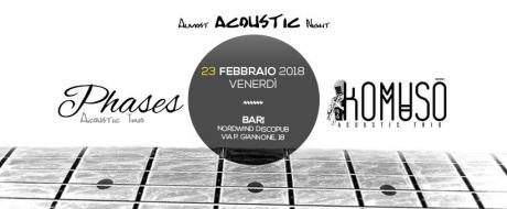 Almost Acoustic Night - Phases & Komusò Acoustic Trios in concerto al Nordwind di bari