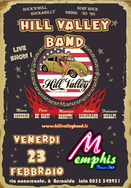 Hill Valley Rock'n'roll Band live al Memphis Pub