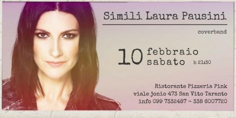 Simili Laura Pausini Cover Band live Ristorante Pizzeria Pink