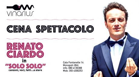 "Venerdì 23 Febbraio al Vinarius Renato Ciardo in ""solo solo"""