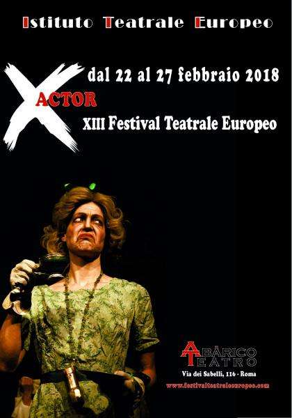 X Actor - XIII Festival Teatrale Europeo