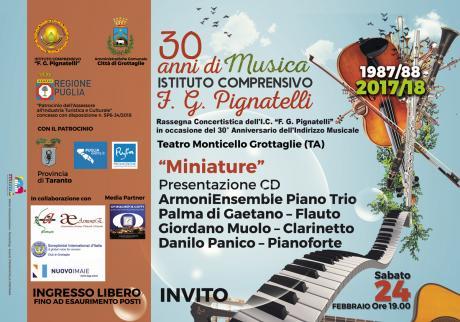 MINIATURE ArmoniEnsemble Piano Trio  - 30 Anni di Musica I.C. Pignatelli