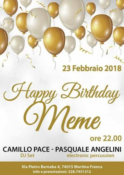 Happy Birthday Meme with Camillo Pace e Pasquale Angelini