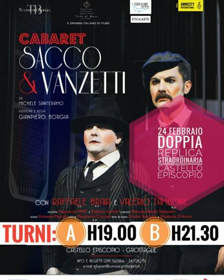 Cabaret SACCO & VANZETTI - DOPPIA replica straordinaria