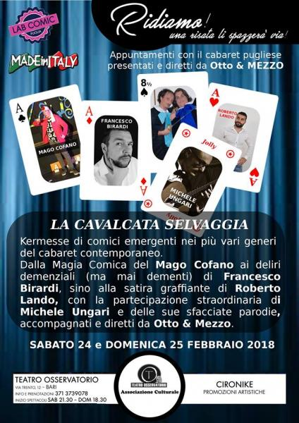 """""""La Cavalcata Selvaggia"""" Kermesse di Comici Pugliesi"""