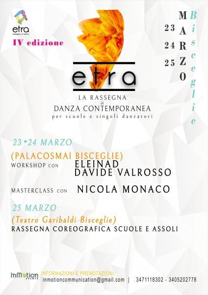 etra - rassegna di danza contemporanea per scuole e singoli danzatori