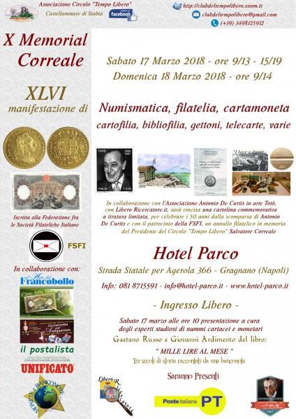 X Memorial Correale 17 e 18 marzo 2018 – Gragnano (Napoli)