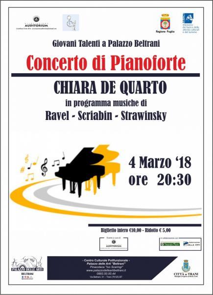 Concerto di pianoforte CHIARA DE QUARTO