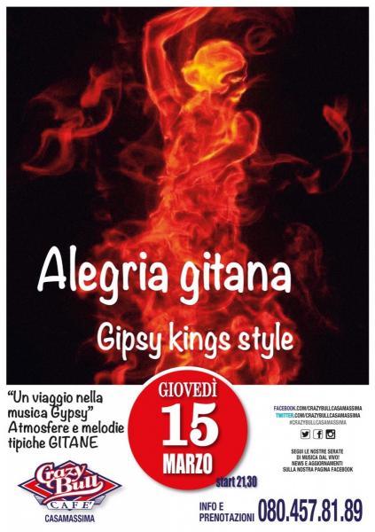 CRAZY BULL CAFE' presenta ALEGRIA GITANA
