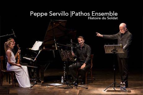 Peppe Servillo e Pathos Ensemble in Histoire du Soldat sabato 17 marzo in scena al Cinema Teatro Cicolella di Foggia.