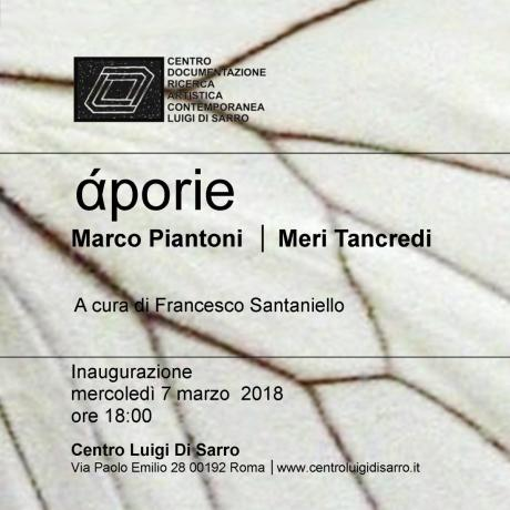 Marco Piantoni | Meri Tancredi  Aporie