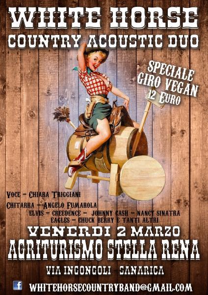 White Horse Country duo live Agriturismo StellaRena a Sanarica