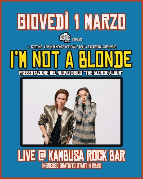 "Dirockato Winter - ""I'm Not A Blonde live at Kambusa Rock Bar"""