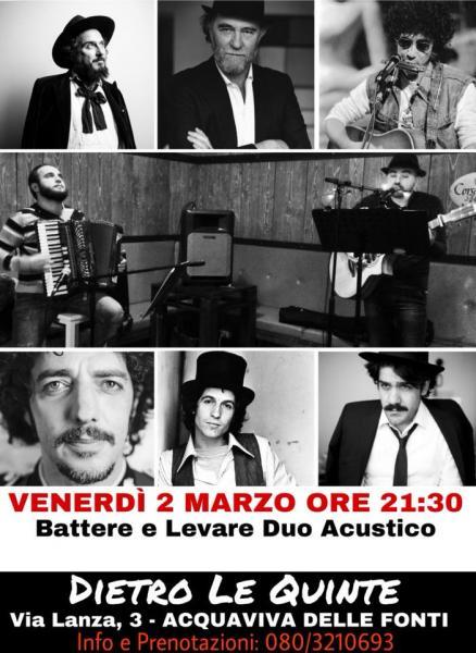Battere e Levare / Cantautorato Italiano / Dietro le Quinte / Acquaviva delle Fonti
