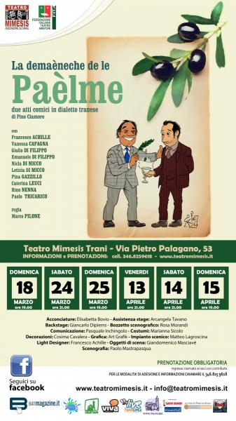 TEATRO: La domenica delle Palme - regia Marco Pilone