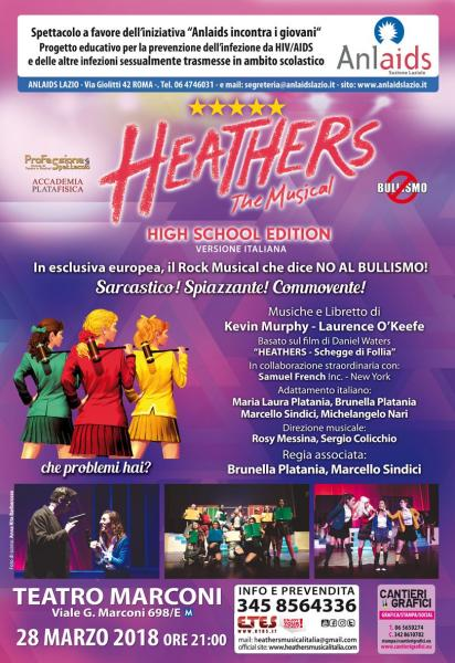 HEATHERS IL MUSICAL A FAVORE DI ANLAIDS