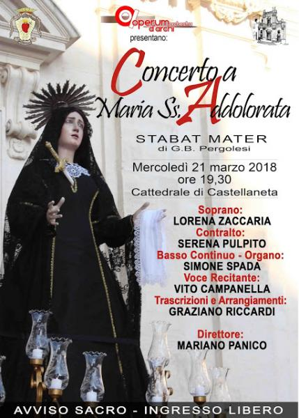 Concerto a Maria SS. Addolorata