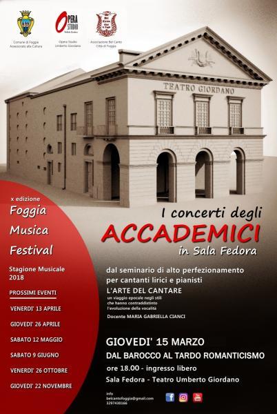 I concerti nella Sala Fedora degli Accademici del Bel Canto